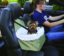 Travel Pet Booster Car Seat Sheepskin Faux Lining Small Dog Puppy Pets Traveler