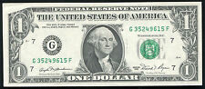 "1981 $1 One Dollar Frn Federal Reserve Note ""Obstruction Error"" About Unc"