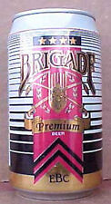 BRIGADE BEER alum. CAN, Evansville Brewing Co., INDIANA, Swords, Brewery CLOSED