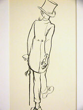 J.H. Dowd YOUNG BOY in TOP HAT and TAILS w CANE 1938 Vintage Child Print Matted