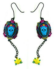 TOO FAST CAMEO SUGAR SKULL EARRINGS (B1C)