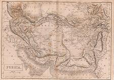 Map of Persia, Iran 1842 Original Print   ref B9