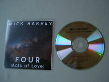 MICK HARVEY Four (Acts Of Love) Album Sampler promo CD
