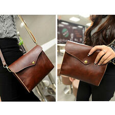 Women Girl Retro Vintage Brown Leather Single Shoulder Bag Handbag Cross body