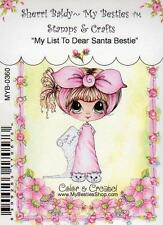 NEW My-Besties Clear cling Rubber Stamp MY LIST TO DEAR SANTA Christmas