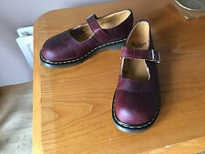 Vintage Dr Martens maroon red mary jane shoes UK 8 EU 42 kawaii skin England