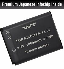 WT-ENEL19 WT Battery for Nikon EN-EL19 Coolpix S100,S2500,S2600,S2700,S2750,