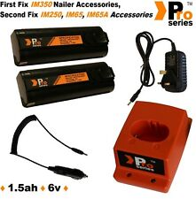 2xProSeries Batteries for Paslode +Wall Charger+Base+In Car Charger