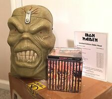 Iron Maiden Eddie's Head Rare 1998 Box Set Discography archive tix guitar album