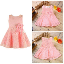 Baby Girl Newborn Clothes Kids Pretty Tops Lace Princess Party Dress 3-6M Skirt
