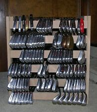 GOLF CLUB STORAGE RACK  HOLDS OVER 100 IRONS !  CALLAWAY, BEN HOGAN, MacGREGOR