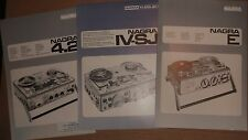 Nagra E IV-S IV-SJ IS 4.2 Vintage Brochure Lot