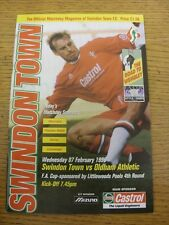 07/02/1996 Swindon Town v Oldham Athletic [FA Cup] . Item appears to be in good