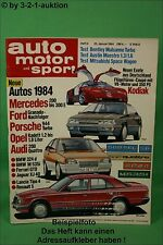 AMS Auto Motor Sport 2/84 Kodiak Golf Oettinger Bentley Mulsanne Turbo