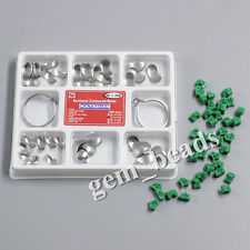 Dental 100PC Sectional Contoured Matrices and 40pc Add-On Wedges Silicone Rubber