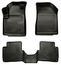 2013-2016 Dodge Dart Black Husky Liners WeatherBeater 1st & 2nd Row Floor Mats