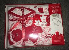 Lil' Tourist 5 Piece Baby Girl Newborn Set! Canada! Brand New In Box! Great Gift