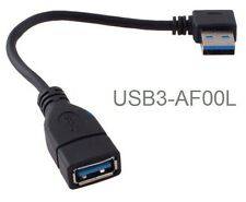 8in USB 3.0 A-Male Left-Angle to A-Female Short Extension Cable, USB3-AF00L