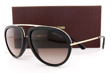 Brand New Tom Ford Sunglasses FT 452 Stacy 02T Black Gold/Brown Gradient Men