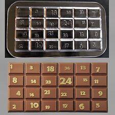 Schokoladenform-Gießform - Relief-Tafelware Advent Tafel 1-24 Profi Qualität