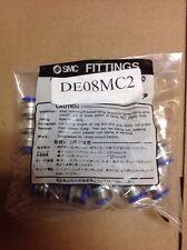 SMC Air Blown Fiber Clean Fittings DE08MC2 (IN-289-2341) Bag Of 10