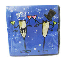 2-Ply Paper Napkins New Year's Beverage Cocktail Bar Party Tableware 180 Count