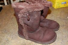 Girl's Brown Airwalk Boots Size 12 pre-owned