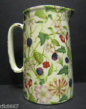 Heron Cross Pottery Hedgerow Chintz English 1 Pint Milk Jug