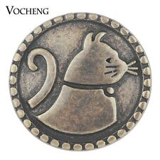 Vocheng Snap Charms Antique Bronze House Cat Chunk Button Jewelry 18mm Vn-1747