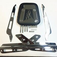 Chrome Flame Backrest Sissy Bar w/Leather Pad For ALL YEAR Honda VTX 1300C 1800C