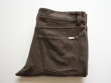 $825 LORO PIANA Slim Fit Brown Thick Virgin Wool Pants Jeans Slacks 40 US 56 EU