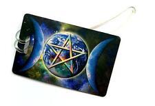 Triple Moon Pentagram - Wiccan Luggage Tag
