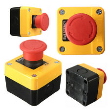 Turn Impermeable Emergencia STOP Push Botón Interruptor Switch 600V 10A