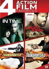 4 Action Film Favorites (DVD; 4-Discs) In Time, Name of Kings, Transporter 1 & 2