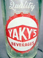 vintage ACL Soda POP  Bottle: YAKY'S of  ALIQUIPPA, PA  - 7 oz ACL SODA