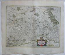Oberpfalz Bayern altkolor Orig Kupferstichkarte Mercator Janssonius 1627