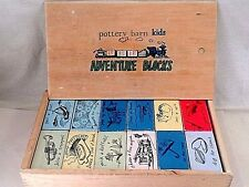 Pottery Barn Kids Wooden Adventure Picture Story Blocks Teach Create Sentences