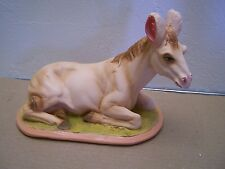 Larger Plaster Donkey with Glass Eyes for Nativity, Creche #2 - Mexico