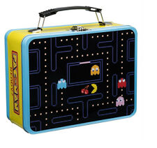 PAC-MAN Large Tin Tote Lunch Box School Pacman Pac Man Game Children New