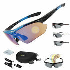 RockBros Polarized Cycling Sunglasses Eyewear Sports Glasses Bike Goggles UV400