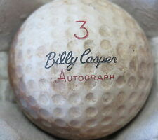 (1) BILLY CASPER SIGNATURE LOGO GOLF BALL (CIR 1960 #3 AUTOGRAPH )