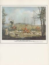 "1974 Vintage FOX HUNTING ""FOX HOUNDS BREAKING COVER"" COLOR Art Print Lithograph"