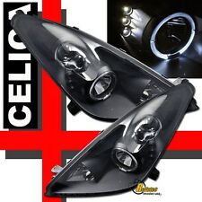 2000-2005 Toyota Celica Halo Angel Eye LED Black Projector Headlights 1 Pair