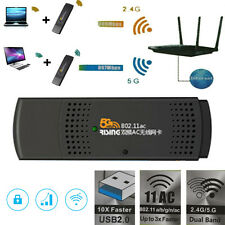 867Mbps 2.4G/5G USB 2.0 WiFi Wireless 802.11a/b/g/n Adapter Network LAN Card New