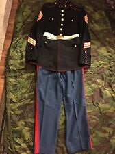 Korean War/Vietnam Era USMC Dress Blues Set. Tunic, Belt, & Trousers