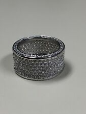 Victoria Wieck 320 PC topaz 10kt white gold filled Pave ring size 8