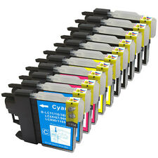 11 NON-OEM INK FOR BROTHER LC-61 MFC-295CN MFC-490CW MFC-495CW MFC-5490CN 5890CN