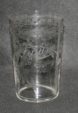ancienne timbale verre de communion cristal fleurs Justine XIX ème