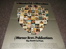 Warner Brothers Music Books very rare 1970's poster ad