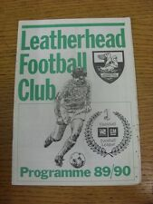 05/09/1989 Leatherhead v Woking  (team changes, rusty staples, marked). Conditio